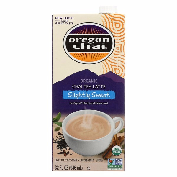 Oregon Chai Original Chai Tea Latte Concentrate - Slightly Sweet - Pack of 6 - 32 Fl Oz.