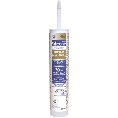 GE Silicone II SE2184 Window and Door Silicone Sealant, 9 8 oz