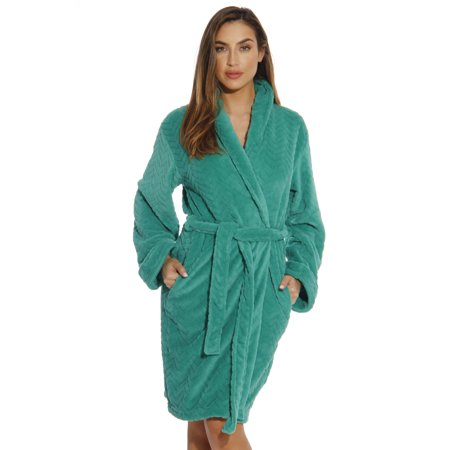chevron bath robes for women (red, large)