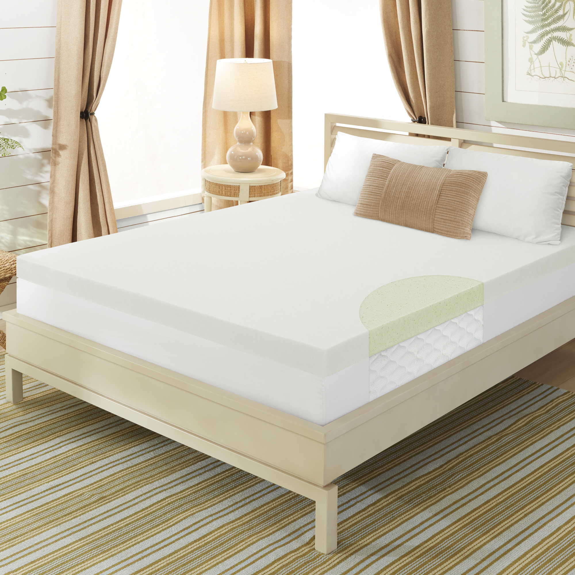"Dream Serenity 3"" Cool Breeze Memory Support Mattress Topper"