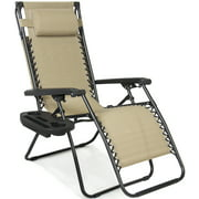 Folding Zero Gravity Recliner Lounge Chair With Canopy Shade Magazine Cup Holder Image 2 Of