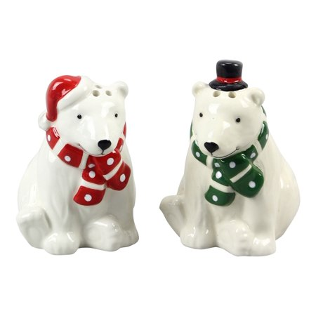 Polar Bears in Hats and Scarves Salt and Pepper Shaker Set](Salt And Pepper Costume Hats)