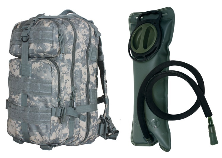 """ACU Army Digital Camo Combat Survival Transport Medium 17"""" Bug-Out Bag BackPack MOLLE Military Rucksack Pack + 2.5... by"""