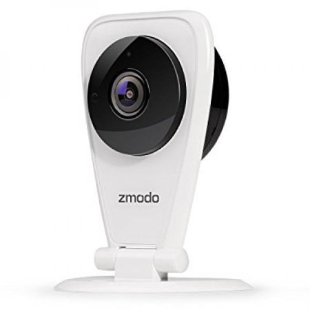 Zmodo EZCam 720p HD WiFi Wireless Security Surveillance IP Camera System with Night Vision and Two Way Audio, Work with Google Assistant ()