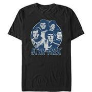 Star Trek Men's Vintage Enterprise Crew Circle T-Shirt