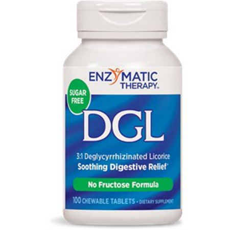 - DGL-FF (No Sugar Or Fructose) Enzymatic Therapy Inc. 100 Chewable