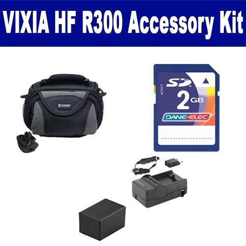 Canon VIXIA HF R300 Camcorder Accessory Kit includes: KSD...