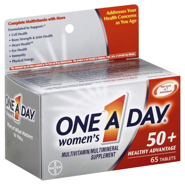 One A Day Women's 50+ Healthy Advantage (65 Count) Multivitamin Tablets