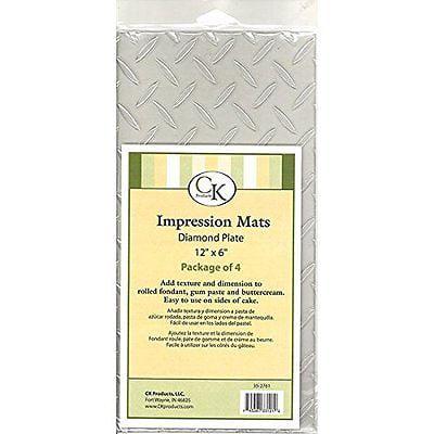 - Diamond Plate Impression Mat - Great for Fondant, Gumpaste, & Buttercream - National Cake Supply