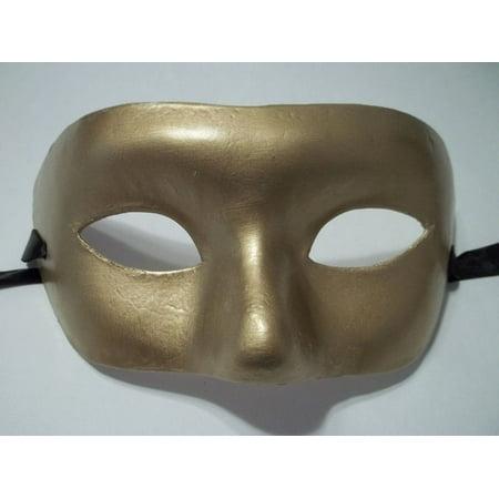 Gold Venetian Mask Masquerade Mardi Gras Party Costume Paper Mache (Venetian Mardi Gras Costumes)