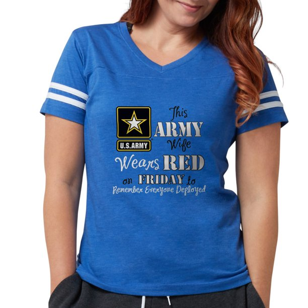 CafePress - Army Wife Wears Red - Womens Football Shirt