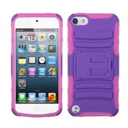 For iPod Touch 5th/6th Gen Purple/Electric Pink Advanced Armor Stand Case Cover