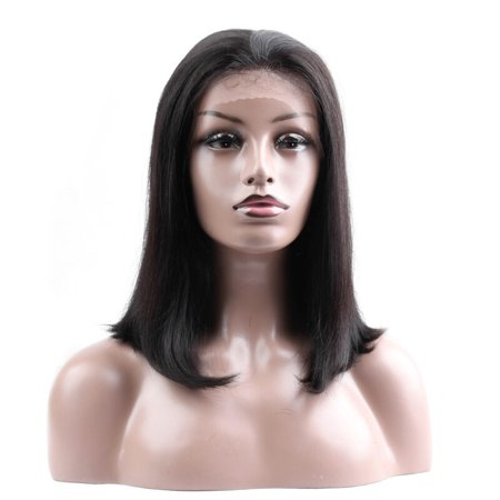BEAUDIVA Brazilian Straight Human Hair Wigs Natural Color 130% Lace Wigs With Full End Short Bob Wigs 3 Colors Available 0317 ()