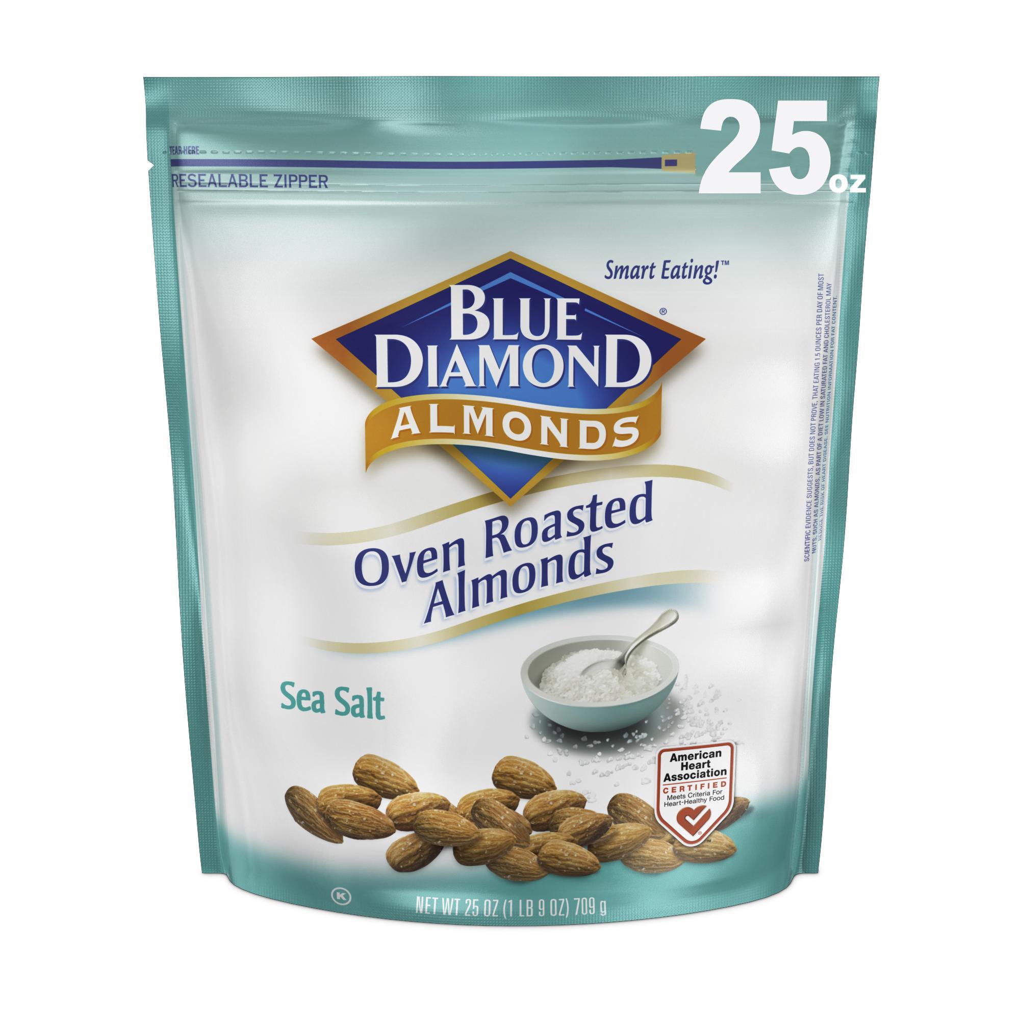 Blue Diamond Almonds, Oven Roasted Sea Salt 25 oz