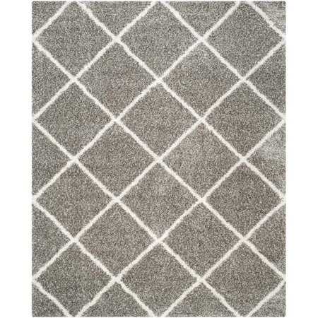 Hawthorne Collection Grey Shag Rug - 9' x 12' - image 1 of 1