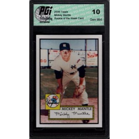 MICKEY MANTLE HOF Topps Rookie of the Week Card PGI 10