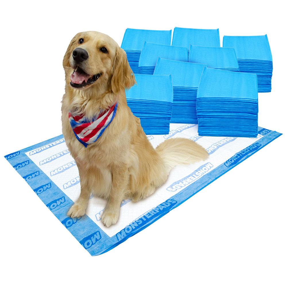 OUT! MonsterPads 7-Layer Dog Training Pads, 36x48 Inch,  40 Count, 8 Pack
