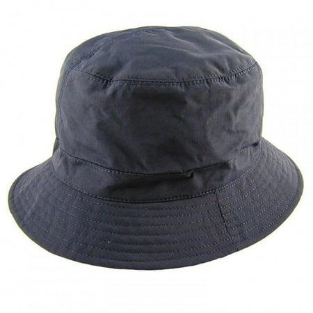 Nylon Rain Bucket Hat - ONE SIZE FITS MOST - Navy Blue](Navy Blue Top Hat)