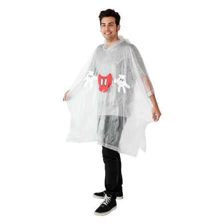 Mickey Mouse Adult Clear Waterproof Raincoat (Cartoon Raincoat)