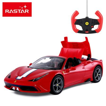 1/14 Scale Ferrari 458 Speciale A Radio Remote Control Model Car R/C RTR Auto Open & Close Roof Convertible Push Button (Red) 2006 Bowman Sterling Rc Auto