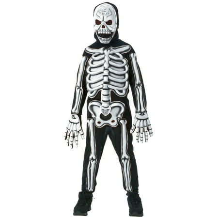 Kids Glow In Dark Skeleton Costume