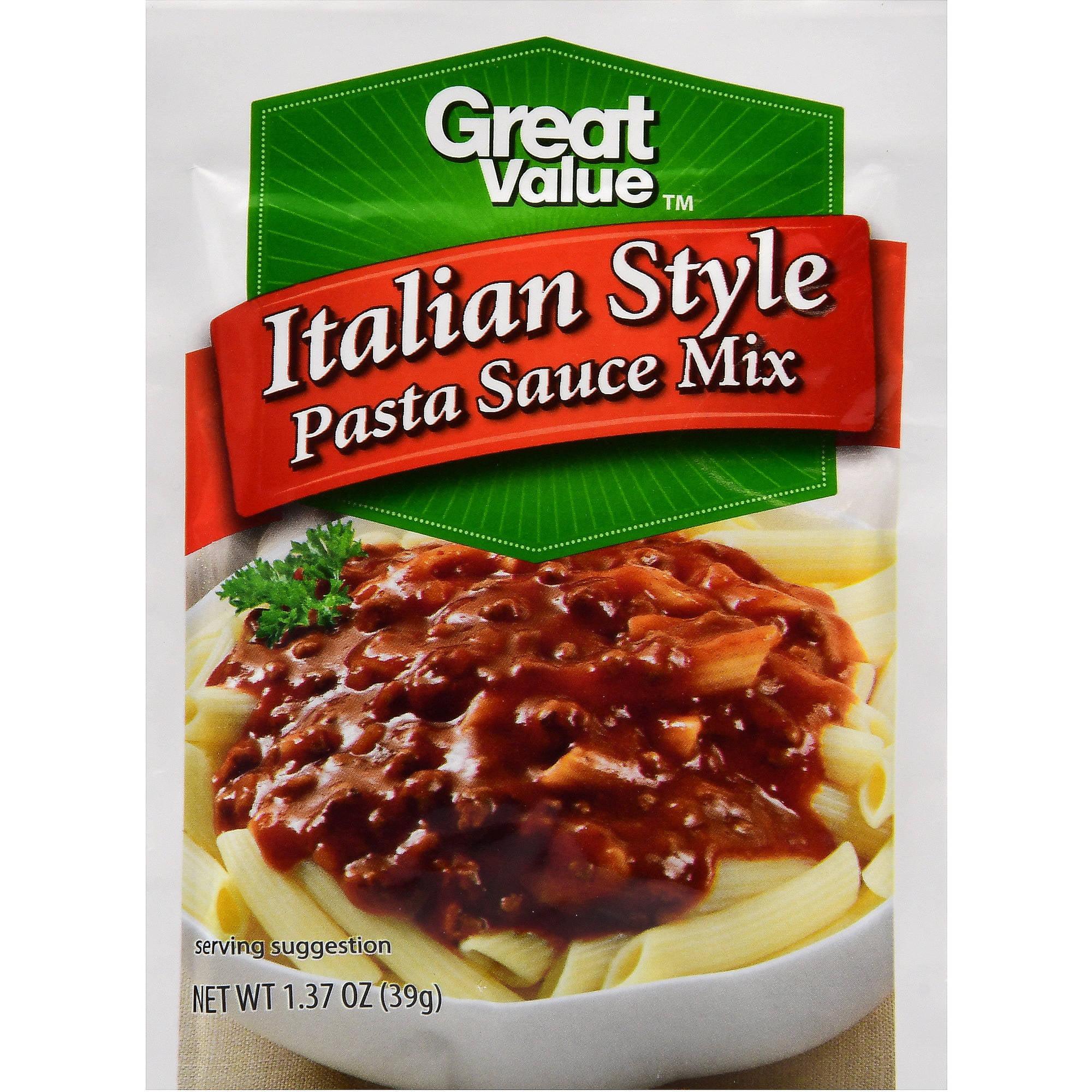 Great Value Italian Style Pasta Sauce Mix, 1.37 oz