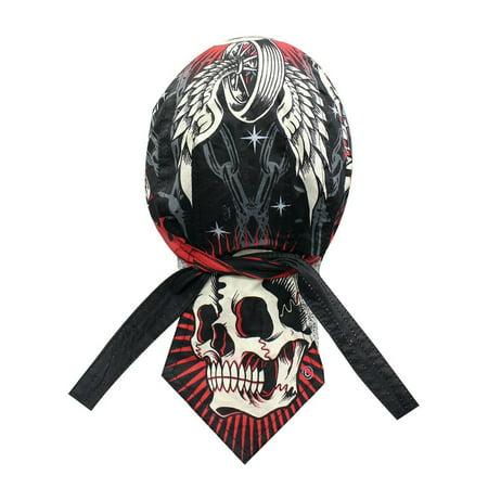 Biker Bandana Deluxe Danbanna Doo Rag Headwrap Sweatband Skull Cap