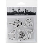 """Two Paper Divas Clear Stamps 6""""X4.5""""-Seed Packet Accessories #1"""