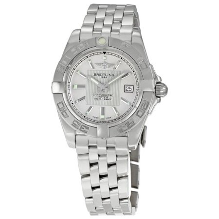 Breitling Womens A71356l2 G702ss Galactic 32 Silver Index Dial Quartz Watch
