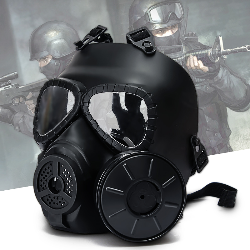 Tactical Full Face Protection Safety Gear Mask Guard for Paintball Airsoft Game Adult