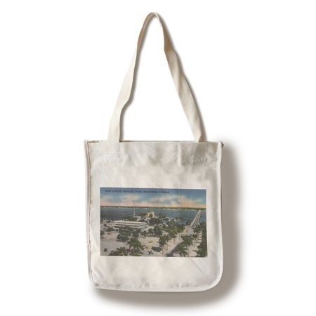 Bradenton, Florida - View Across Manatee River (100% Cotton Tote Bag - Reusable) (Party City Bradenton Florida)