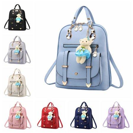 e69ad16438a0 EFINNY - EFINNY Stylish Womens Girls School Backpack PU Leather Multi-Way  Backpacks With Cartoon Pendant - Walmart.com