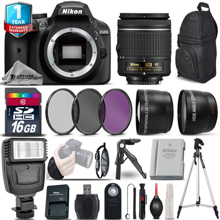 Nikon D3400 DSLR Camera + 18-55mm VR + 1yr Warranty + Filters + 16GB -Saving