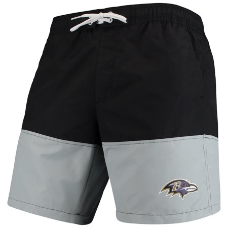 Baltimore Ravens G-III Sports by Carl Banks Anchor Volley Swim Trunks - Black/Gray