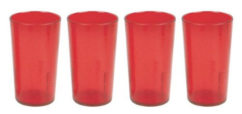32 oz. (Ounce) Restaurant Tumbler Beverage Cup, Stackable Cups, Break-Resistant Commmerical Plastic, Set of 4... by Thunder Group