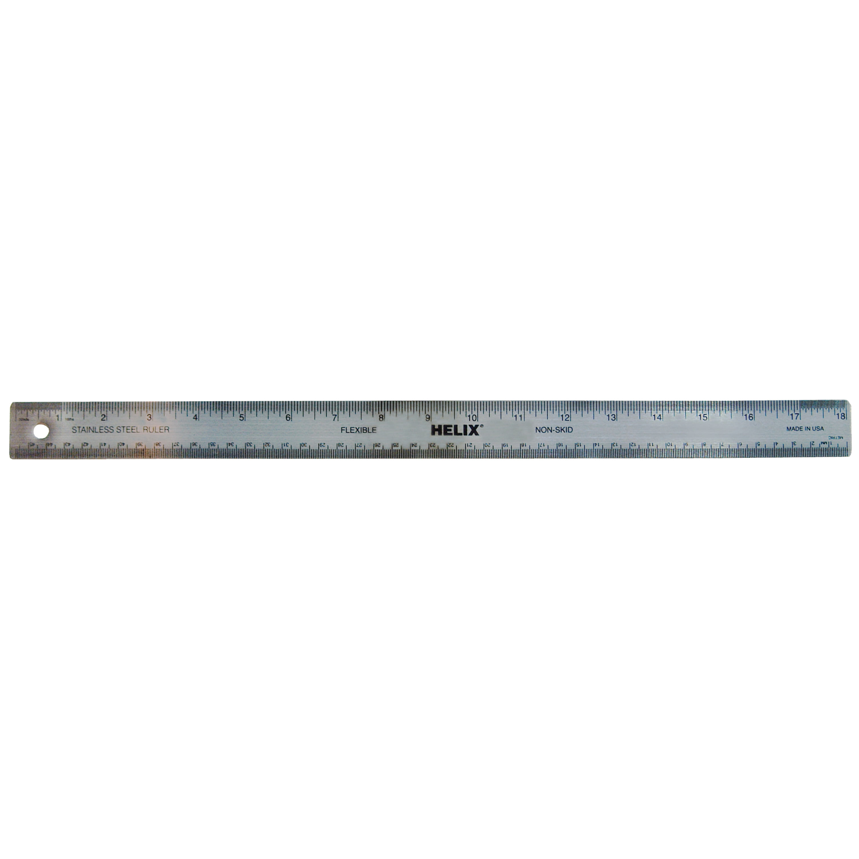 Helix 12 Inch Non Slip Pack x 12 30cm Stainless Steel Flexible Metal Ruler