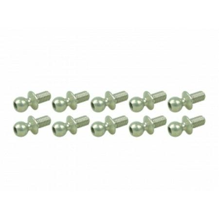 Integy RC Toy Model Hop-ups 3RAC-BS43050/TE 7075 Aluminum 4.3MM Ball Stud L=5 (10 pcs) - Teflon -