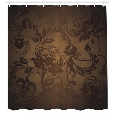 Victorian Shower Curtain Floral Paisley Ivy Design Leaves With Abstract Details Ancient Print Fabric