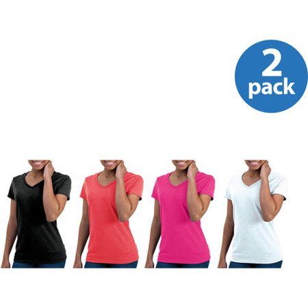 Gildan Womens Classic Short Sleeve V-Neck T-Shirt 2pk