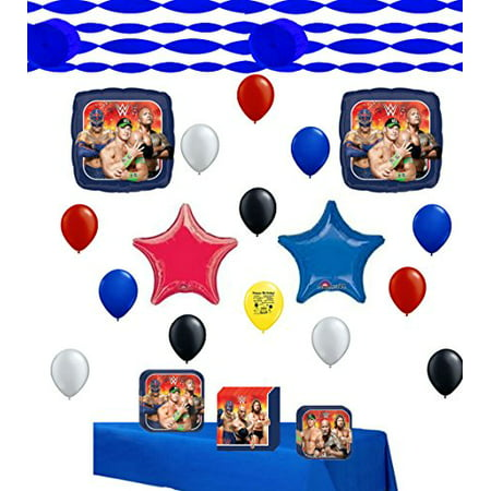 Wrestling Party Supplies and Balloon Decoration Kit Bundle WWE - Wwe Supplies