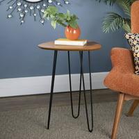 """Manor Park Mid-Century Modern 18"""" Wood Side Table - Walnut"""
