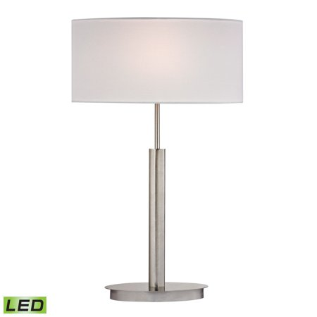 Satin Nickel 5 Port - New Product  Port Elizabeth LED Table Lamp in Satin Nickel D2549-LED Sold by VaasuHomes
