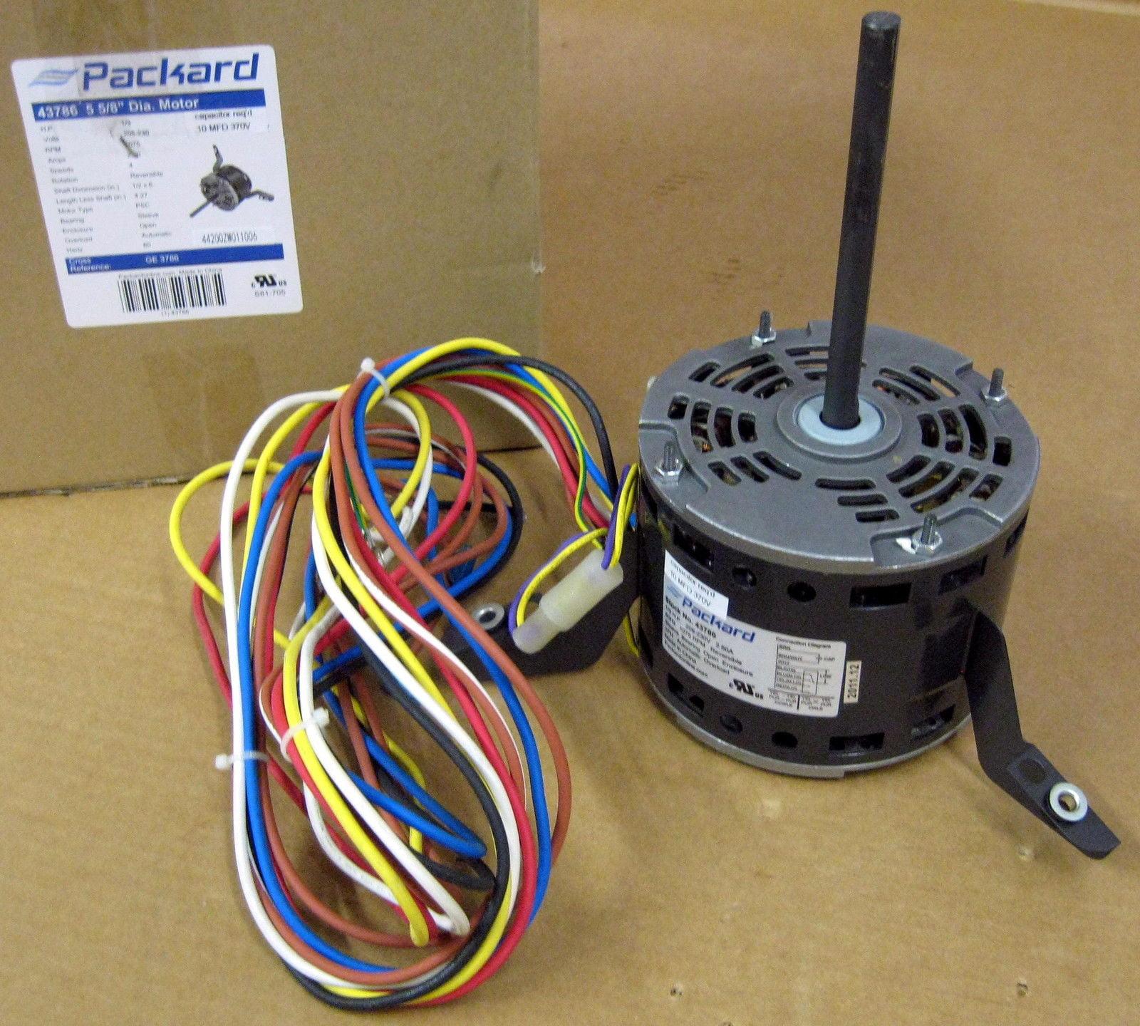 Packard FM1036 1//3 HP 1075 RPM 3 Speed 208-230 Volt Motor