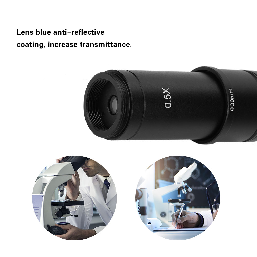 0.5X C-Mount 30//30.5mm Adapter for Microscope CCD Camera Eyepiece Lens with Blue Anti-Reflective Coating Microscope Adapter