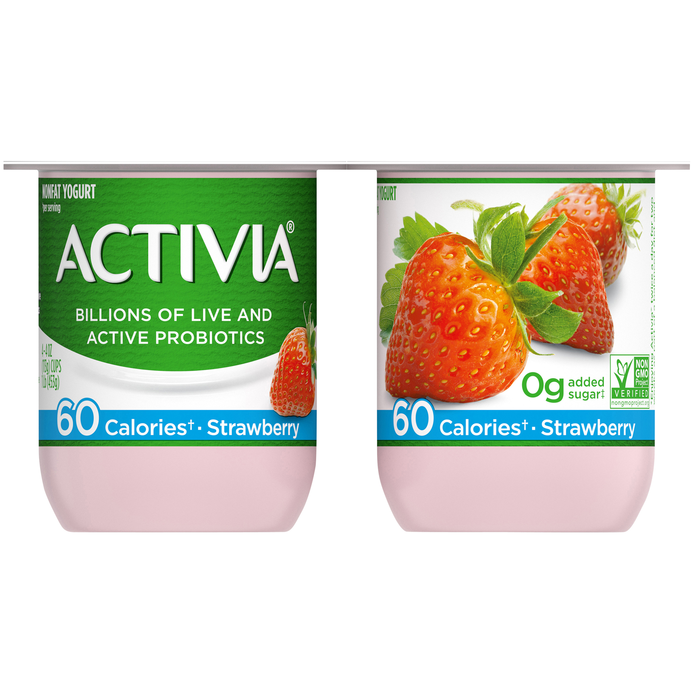 calories in activia fat free yogurt