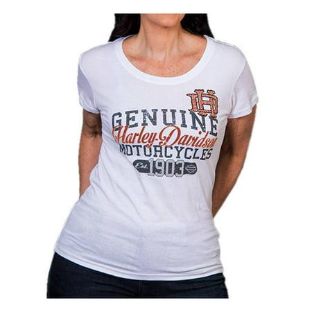 Studded High Top (Harley-Davidson Women's Coliseum Studded Short Sleeve Round-Neck Tee, White, Harley)