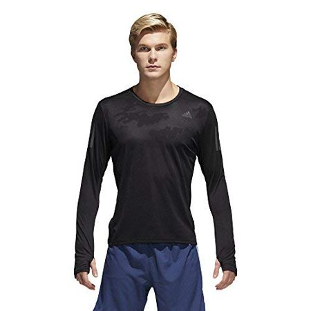 Adidas Men's Running Response Long Sleeve Tee  Athletic Shirts