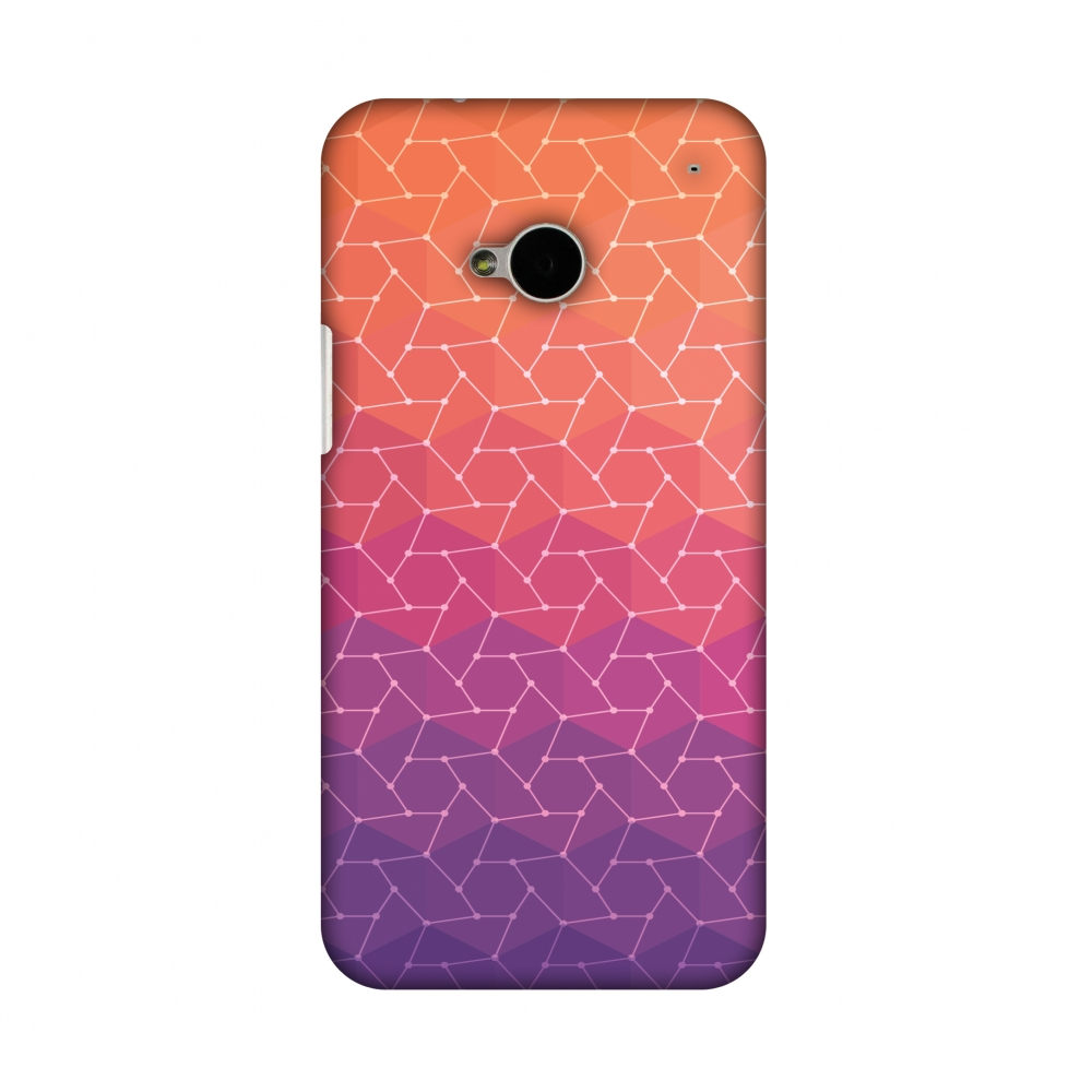 HTC One M7 Case, Premium Handcrafted Printed Designer Hard ShockProof Case Back Cover for HTC One M7 - Funky Dot Pop 2