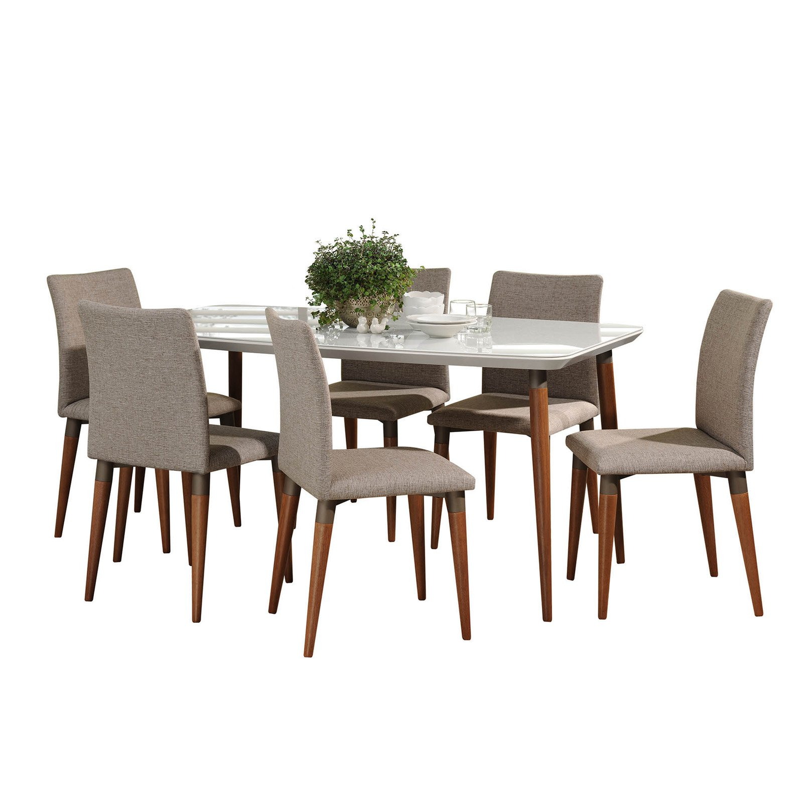 Manhattan Comfort Charles 7 Piece Dining Table Set