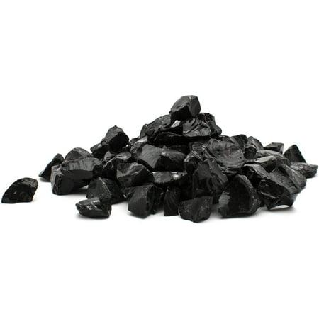 """1/4"""" 20 lb. Black Landscape Fire Glass"""
